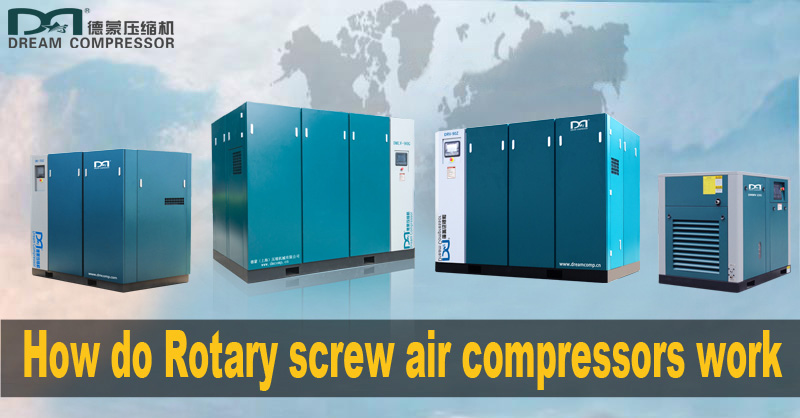 How do Rotary screw air compressors work