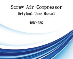 Screw Air Compressor Original User Manual DHV-22G