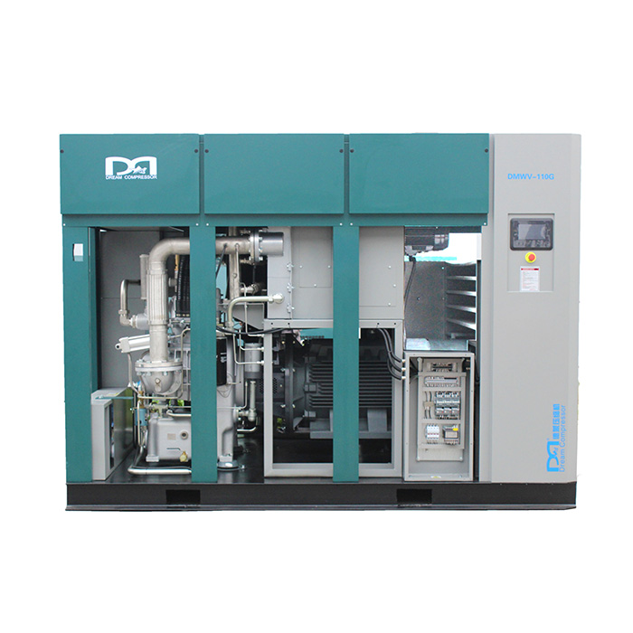Dry Oil Free Permanent Magnetic Variable Speed Screw Air Compressor