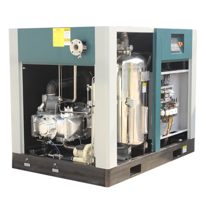 Oil Free Water Lubricated Fixed Speed Screw Air Compressor